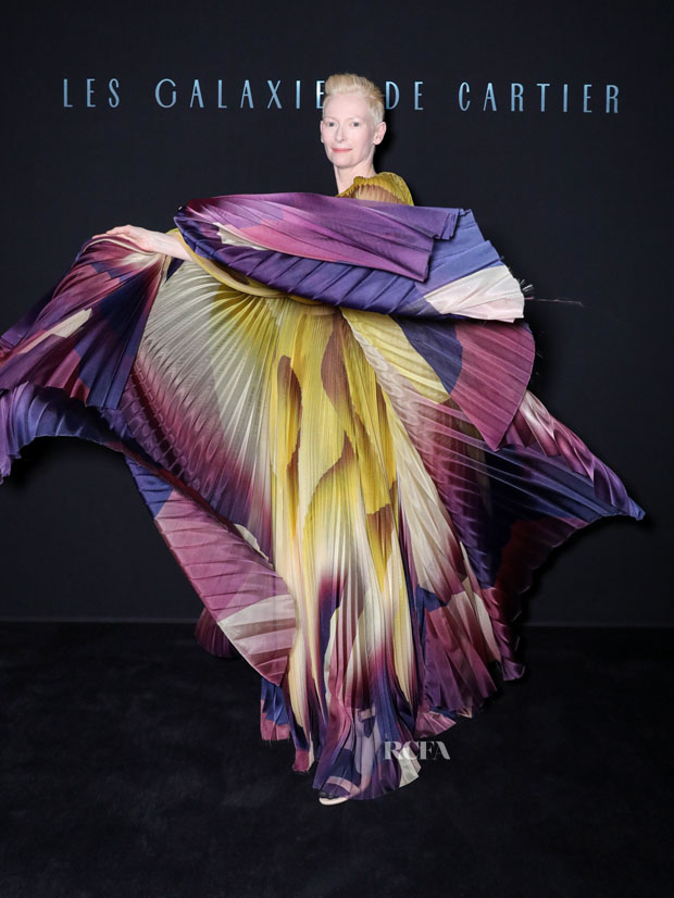 Fashion Blogger Catherine Kallon features Tilda Swinton In Iris van Herpen Haute Couture - Les Galaxies de Cartier