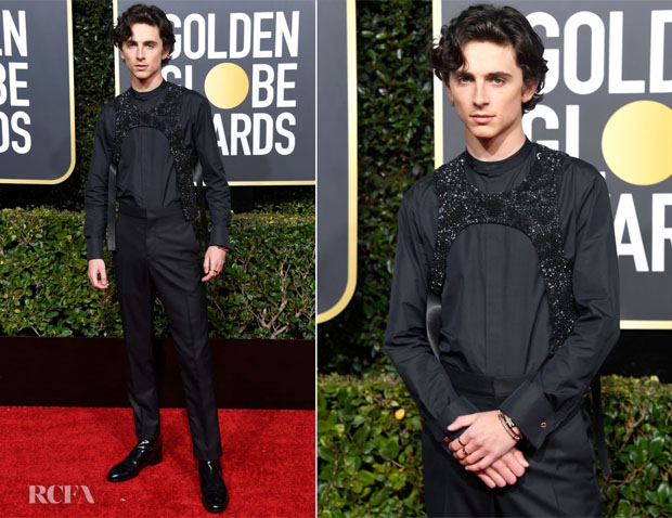 Fashion Blogger Catherine Kallon features Timothée Chalamet In Louis Vuitton - 2019 Golden Globe Awards
