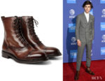Timothee Chalamet's Berluti Eris Bergen Shearling-Lined Leather Boots