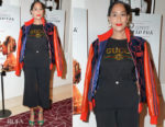 Fashion Blogger Catherine Kallon features Tracee Ellis Ross In Dapper Dan x Gucci - 'If Beale Street Could Talk' LA Screening