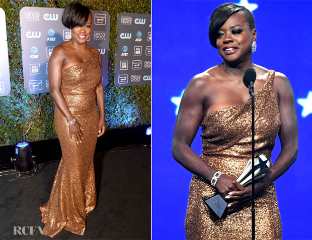 Fashion Blogger Catherine Kallon features Viola Davis In Michael Kors Collection - 2019 Critics' Choice Awards