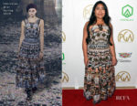 Fashion Blogger Catherine Kallon features Yalitza Aparicio In Christian Dior - 2019 Producers Guild Awards