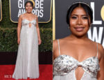 Fashion Blogger Catherine Kallon features Yalitza Aparicio In Miu Miu - 2019 Golden Globe Awards