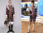 Fashion Blogger Catherine Kallon features Yara Shahidi In Thom Browne - Good Morning America