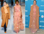 Fashion Blogger Catherine Kallon features Zawe Ashton In Roksanda - 'Velvet Buzzsaw' Sundance Film Festival & LA Premiere
