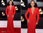 Fashion Blogger Catherine Kallon features Alicia Keys In Giorgio Armani - 2019 Grammy Awards