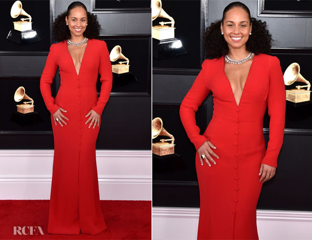 Fashion Blogger Catherine Kallon features Alicia Keys In Giorgio Armani - 2019 Grammy Awards