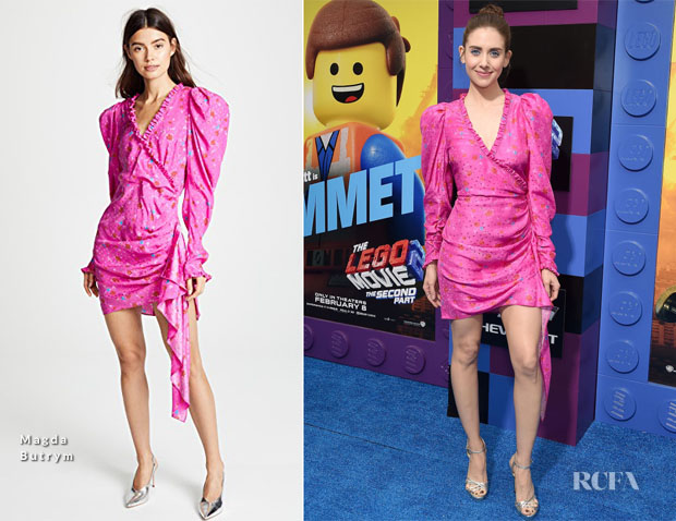 Fashion Blogger Catherine Kallon features Alison Brie In Magda Butrym - 'The Lego Movie 2: The Second Part' LA Premiere