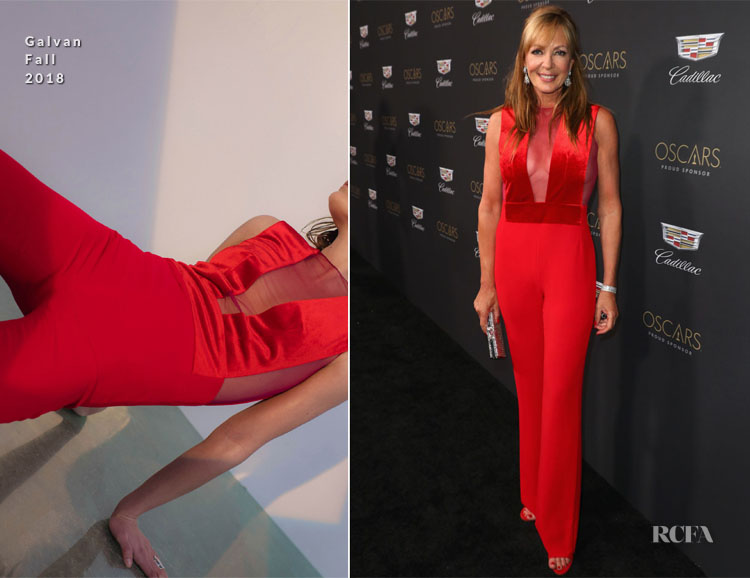 Fashion Blogger Catherine Kallon features Allison Janney In Galvan London - Cadillac Celebrates Oscar Week 2019