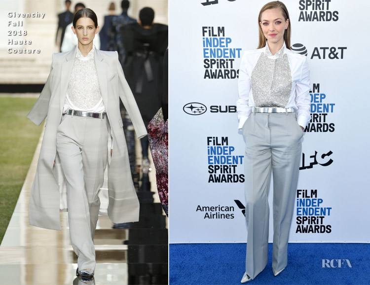 Fashion Blogger Catherine Kallon features Amanda Seyfried In Givenchy Haute Couture - 2019 Film Independent Spirit Awards
