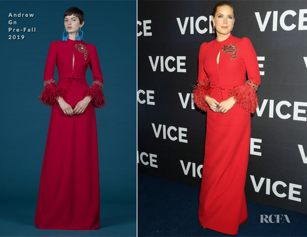 Fashion Blogger Catherine Kallon Features Amy Adams In Andrew Gn - 'Vice' Paris Premiere