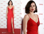 Fashion Blogger Catherine Kallon features Ana de Armas In Versace - Campari Red Diaries 2019 Premiere Event
