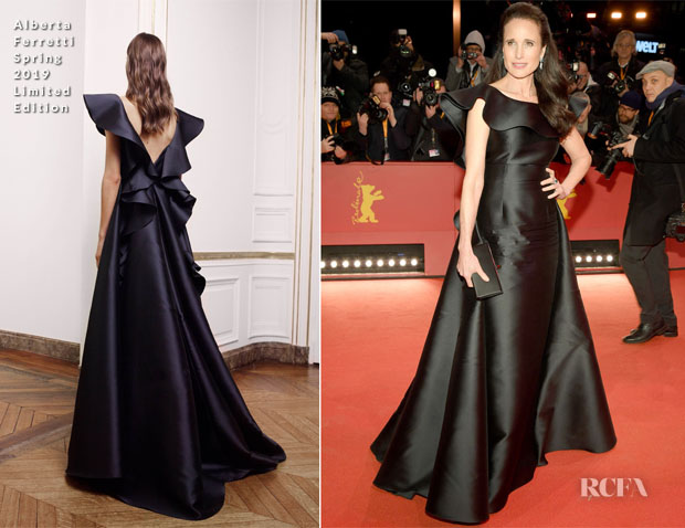 Fashion Blogger Catherine Kallon Features Andie Macdowell In Alberta Ferretti Limited Edition - 'The Kindness Of Strangers' Berlinale Film Festival Premiere