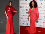 Fashion Blogger Catherine Kallon features Angela Bassett In Greta Constantine - Woman's Day Celebrates 16th Annual Red Dress Awards