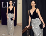 Fashion Blogger Catherine Kallon features Angela Sarafyan In Monique Lhuillier - Learning Lab Ventures 2019 Gala