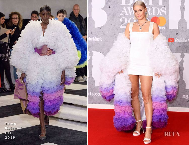 Fashion Blogger Catherine Kallon features Anne-Marie In Tomo Koizumi - The BRIT Awards 2019