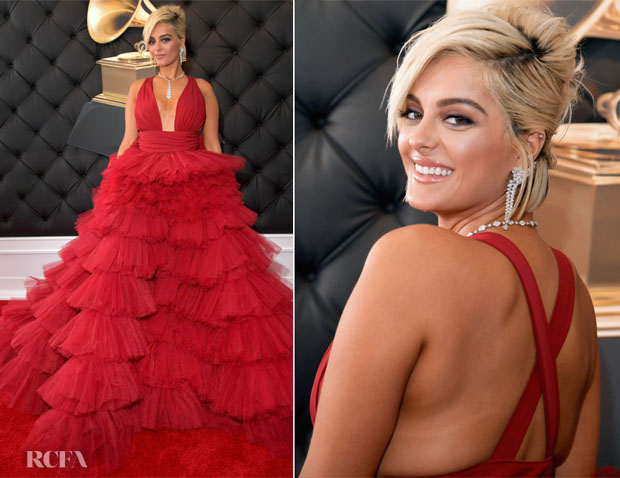 Fashion Blogger Catherine Kallon features Bebe Rexha In Monsoori - 2019 Grammy Awards