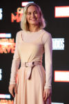 Fashion Blogger Catherine Kallon features Brie Larson In Max Mara - 'Captain Marvel' Talent Tour Press Conference