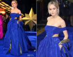Brie Larson In Valentino Haute Couture -'Captain Marvel' London Premiere