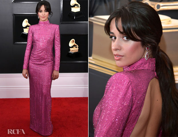Fashion Blogger Catherine Kallon features Camila Cabello In Giorgio Armani - 2019 Grammy Awards