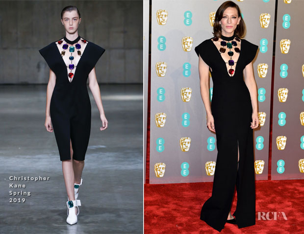 Fashion Blogger Catherine Kallon features Cate Blanchett In Christopher Kane - 2019 BAFTAs
