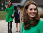 Fashion Blogger Catherine Kallon features Catherine, Duchess of Cambridge In Eponine London - Lavender Primary School Visit