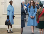 Catherine Duchess of Cambridge In Mulberry & Jenny Packham - Cinemagic Visit