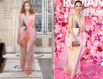 Fashion Blogger Catherine Kallon features Constance Wu In Schiaparelli Haute Couture - 'Isn't it Romantic' LA Premiere