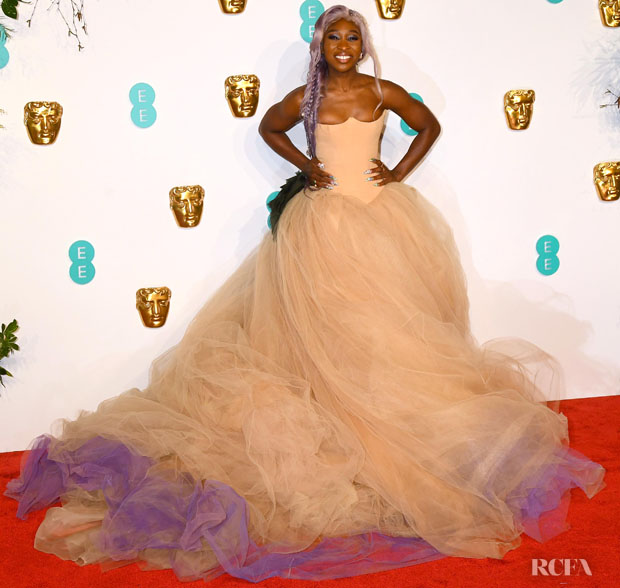 Cynthia Erivo In Vera Wang Collection - 2019 BAFTAs