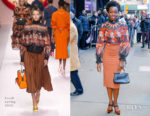 Fashion Blogger Catherine Kallon features Danai Gurira In Fendi - Good Morning America