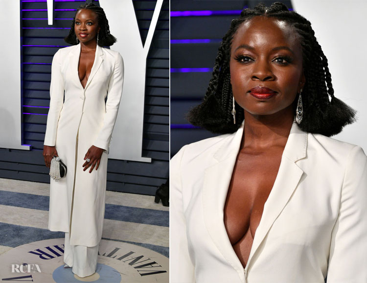 Danai Gurira In Gabriela Hearst - 2019 Vanity Fair Oscar Party