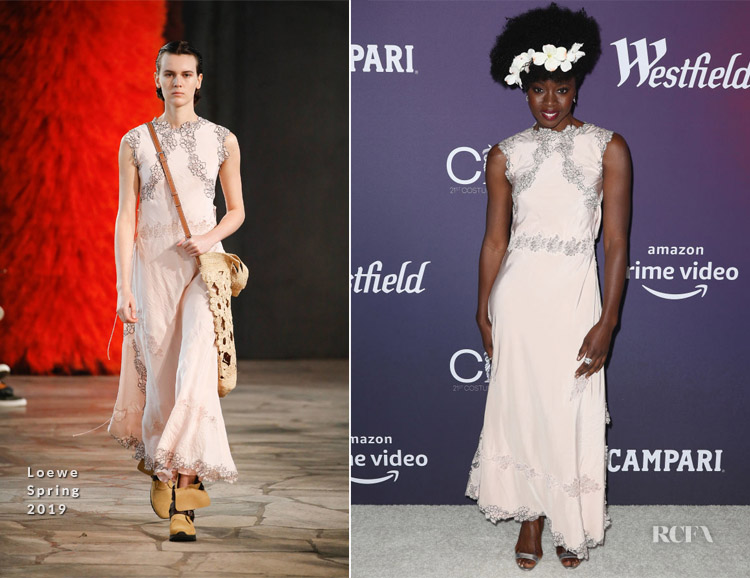 Fashion Blogger Catherine Kallon features Danai Gurira In Loewe - 2019 Costume Designers Guild Awards