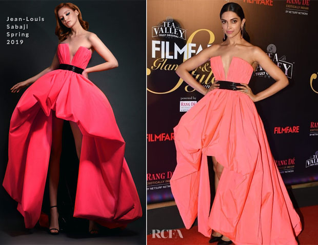 Fashion Blogger Catherine Kallon features Deepika Padukone In Jean-Louis Sabaji Couture - 2019 Filmfare Glamour and Style Awards