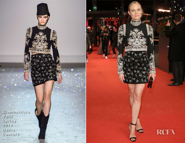 Fashion Blogger Catherine Kallon features Diane Kruger In Giambattista Valli Haute Couture - 'The Golden Glove' Berlinale International Film Festival Premiere