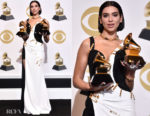 Fashion Blogger Catherine Kallon features Dua Lipa In Atelier Versace - 2019 Grammy Acceptance