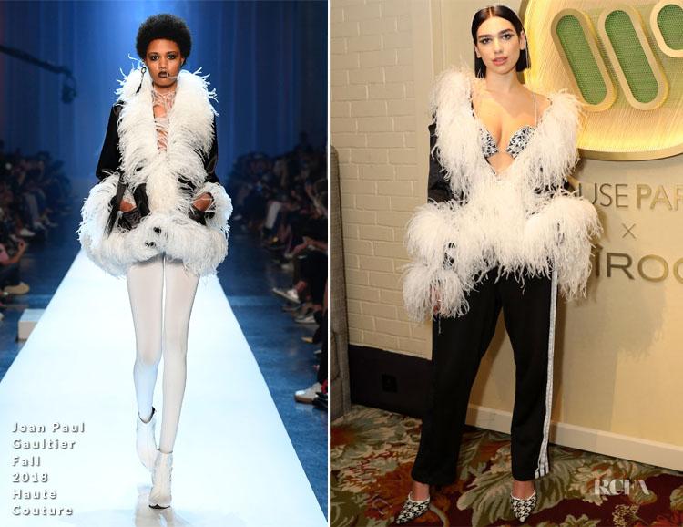 Fashion Blogger Catherine Kallon features Dua Lipa In Jean Paul Gaultier Haute Couture - The BRIT Awards 2019