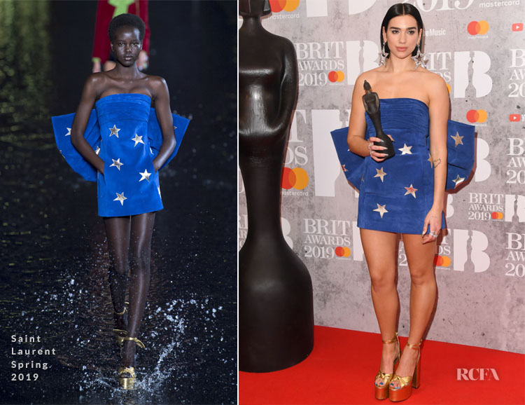 Fashion Blogger Catherine Kallon features Dua Lipa In Saint Laurent - The BRIT Awards 2019