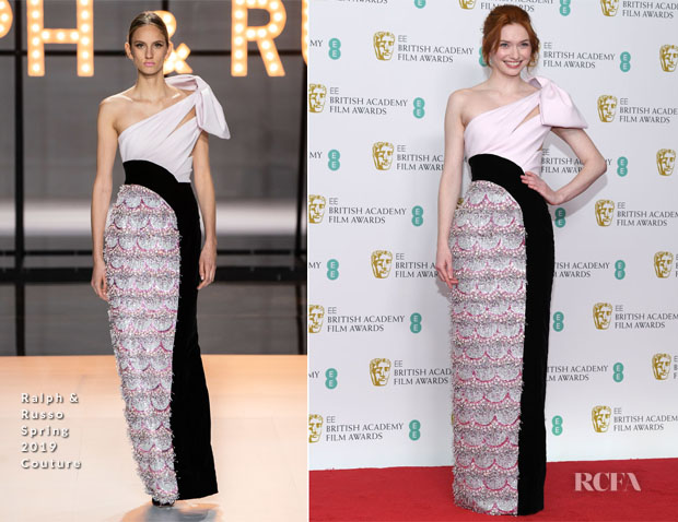 Fashion Blogger Catherine Kallon features Eleanor Tomlinson In Ralph & Russo Couture - 2019 BAFTAs