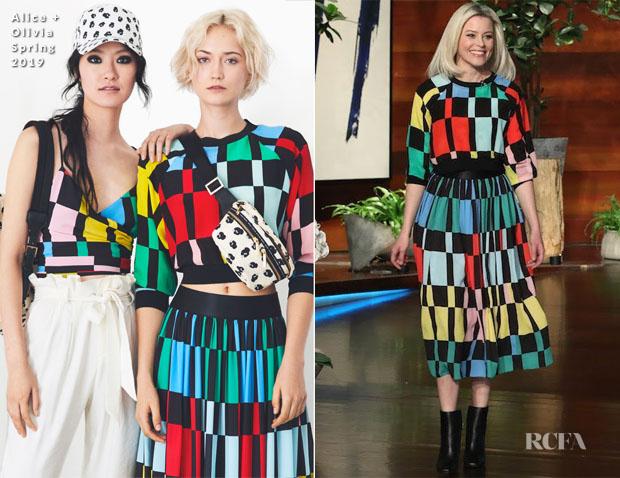 Fashion Blogger Catherine Kallon features Elizabeth Banks In Alice + Olivia - The Ellen DeGeneres Show