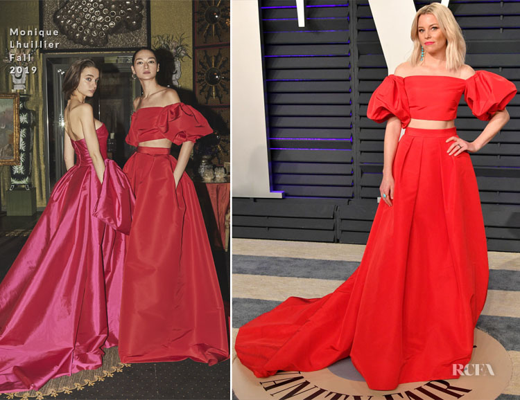 Elizabeth Banks In Monique Lhuillier - 2019 Vanity Fair Oscar Party