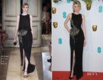 Fashion Blogger Catherine Kallon features Elizabeth Debicki In Armani Prive - 2019 BAFTAs