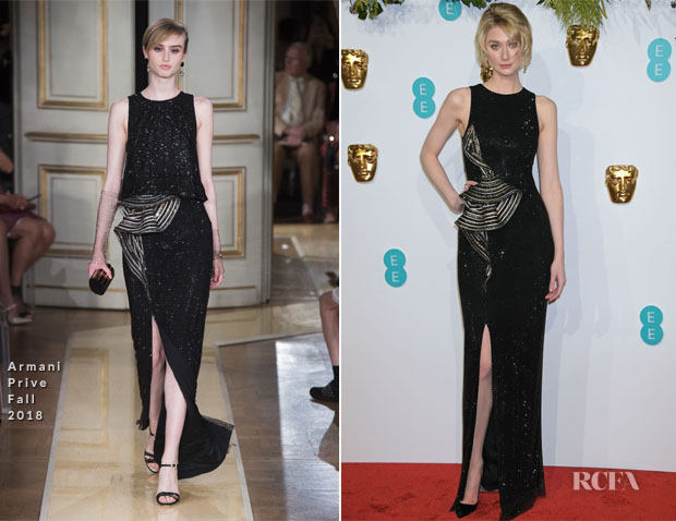 Fashion Blogger Catherine Kallon features Elizabeth Debicki In Armani Prive - 2019 BAFTAs