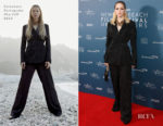 Fashion Blogger Catherine Kallon Features Ellie Bamber In Salvatore Ferragamo - Newport Beach Film Festival