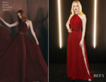 Fashion Blogger Catherine Kallon features Ellie Bamber in Elie Saab - dunhill Pre-BAFTA Dinner