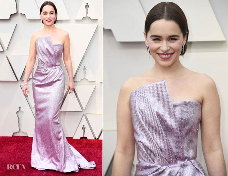 Emilia Clarke In Balmain - 2019 Oscars
