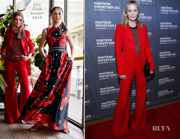 Fashion Blogger Catherine Kallon features Emily Blunt In Elie Saab - 'To Dust' New York Screening