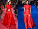 Gemma Chan In Brandon Maxwell - 'Captain Marvel' London Premiere