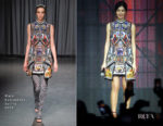 Fashion Blogger Catherine Kallon features Gemma Chan In Mary Katrantzou - Captain Marvel Talent Tour Fan Event