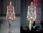 Fashion Blogger Catherine Kallon features Gemma Chan In Mary Katrantzou - Captain Marvel Talent Tour Fan Event