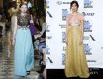 Fashion Blogger Catherine Kallon features Gemma Chan In Miu Miu - 2019 Film Independent Spirit Awards